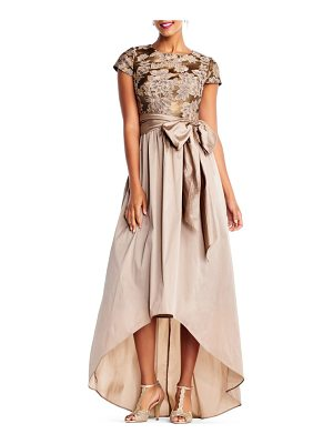 ADRIANNA PAPELL Taffeta High/Low Gown