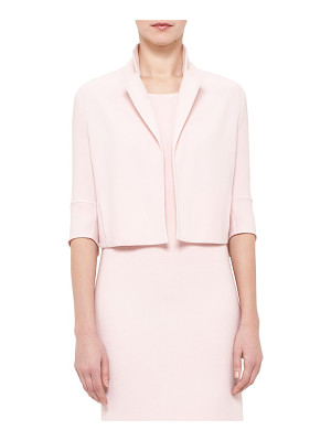 AKRIS double face wool crepe crop jacket