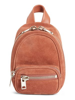 ALEXANDER WANG Mini Attica Suede Backpack-Shaped Crossbody Bag