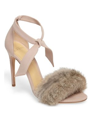 Alexandre Birman clarita genuine rabbit fur sandal