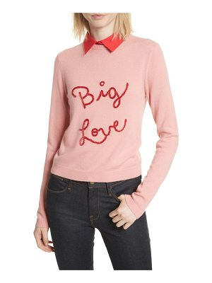 ALICE + OLIVIA Big Love Embroidered Cashmere Sweater