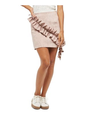 ALPHA AND OMEGA Alpha & Omeda Faux Suede Ruffle Skirt