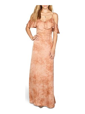 AMUSE SOCIETY Lost Paradise Off The Shoulder Maxi Dress