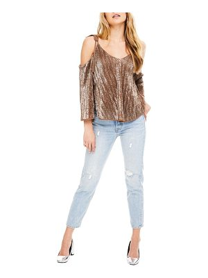 ASTR THE LABEL Adison Cold Shoulder Top
