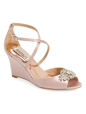 BADGLEY MISCHKA 'Abigail' Peep Toe Wedge