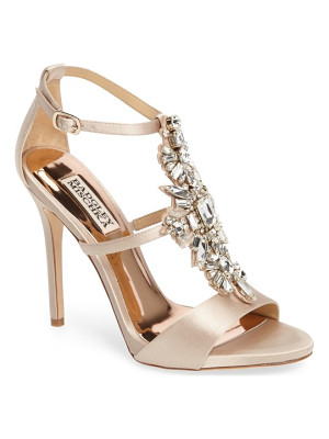 BADGLEY MISCHKA Basile Crystal Embellished Sandal