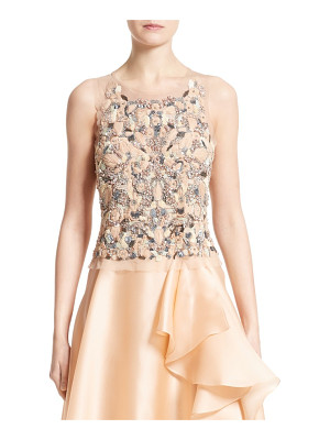 BADGLEY MISCHKA COUTURE Badgley Mischka Couture Beaded Top