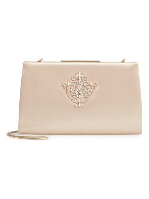 Badgley Mischka dare satin clutch