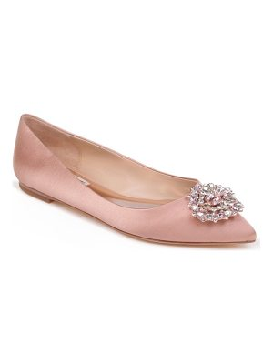BADGLEY MISCHKA 'Davis' Crystal Embellished Pointy Toe Flat