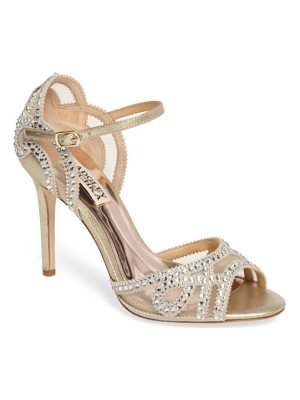 Badgley Mischka embellished mesh sandal