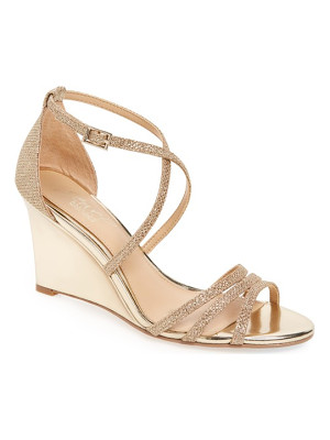 Badgley Mischka hunt glittery wedge sandal