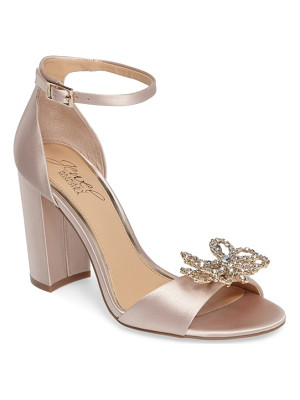 BADGLEY MISCHKA Lex Embellished Block Heel Sandal