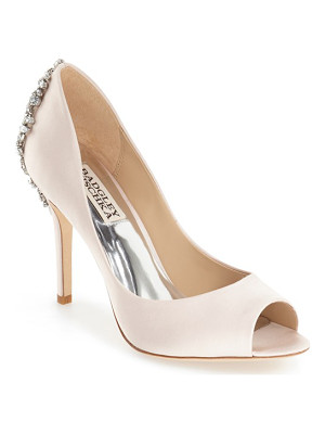 Badgley Mischka 'nilla' peep toe pump