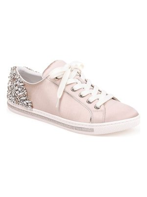 Badgley Mischka shirley crystal embellished sneaker