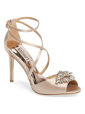 BADGLEY MISCHKA Tatum Embellished Strappy Sandal