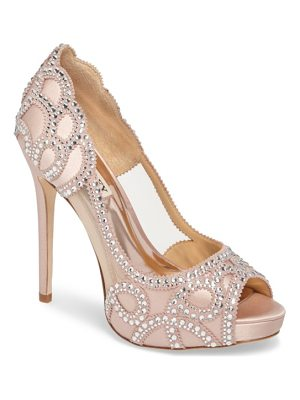 BADGLEY MISCHKA Witney Embellished Peep Toe Pump