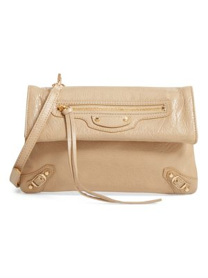 BALENCIAGA Classic Mini Envelope Leather Crossbody Bag