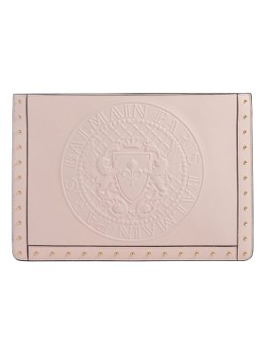 BALMAIN Mini Domaine Embossed Coin Calfskin Bag