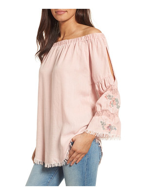 BILLY T off the shoulder denim top