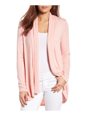 Bobeau high/low jersey cardigan