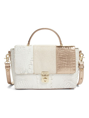 BRAHMIN Danielle Embossed Leather Satchel