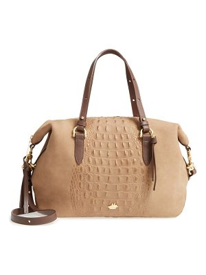 Brahmin wilmington delaney embossed nubuck satchel