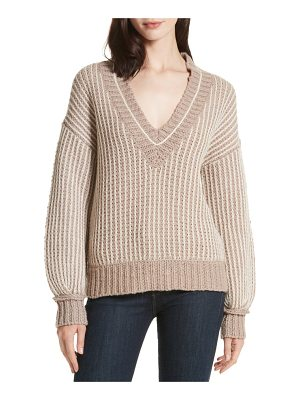 BROCHU WALKER Jessen Stripe Wool & Cashmere Sweater