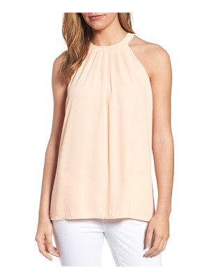 CeCe pleat halter style blouse