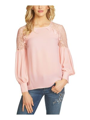 CeCe by Cynthia Steffe ruffle lace shoulder top