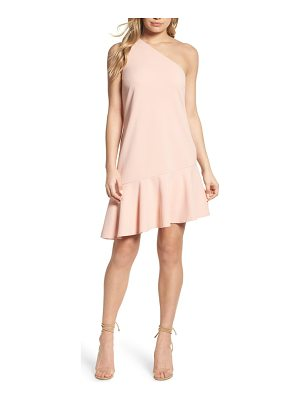 CHARLES HENRY One-Shoulder Ruffle Dress