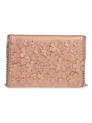 Chelsea28 floral faux leather clutch