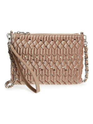 CHELSEA28 Lily Quilted Velvet Crossbody Clutch