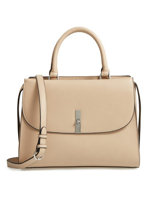 Chelsea28 morgan convertible faux leather satchel