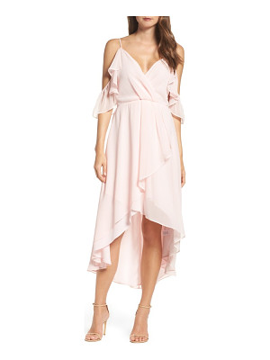 Chelsea28 ruffle off the shoulder dress
