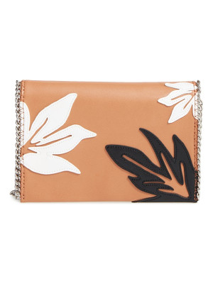 CHELSEA28 Tropical Applique Chain Clutch