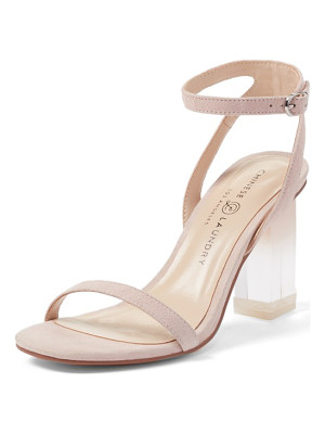 Chinese Laundry shanie clear heel sandal