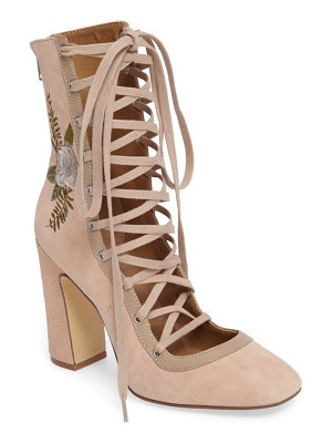 Chinese Laundry sylvia lace-up bootie