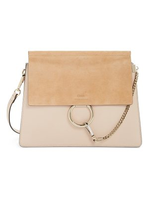 CHLOE Faye Suede & Leather Shoulder Bag