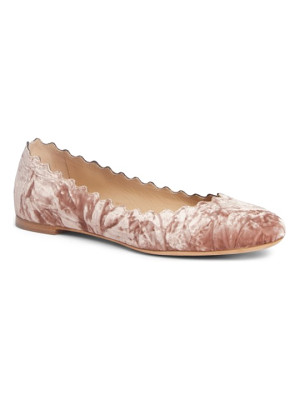 CHLOE Lauren Scalloped Ballet Flat