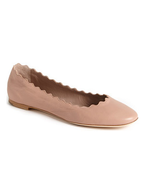 Chloe 'lauren' scalloped ballet flat