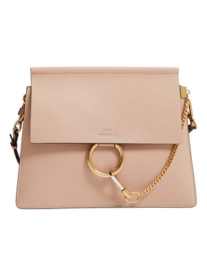 Chloe faye goatskin leather shoulder bag