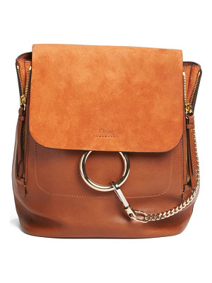 CHLOE Medium Faye Suede & Leather Backpack
