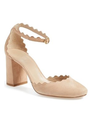 CHLOE Scalloped Ankle Strap D'Orsay Pump