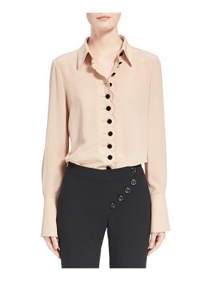 CHLOE Scalloped Silk Blouse