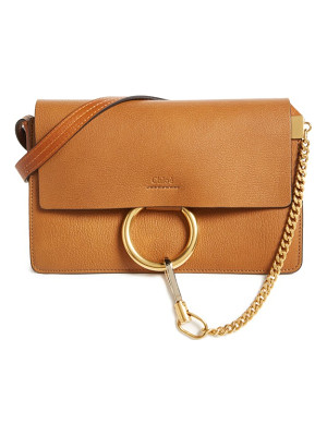 CHLOE Small Faye Goatskin Leather Crossbody Bag