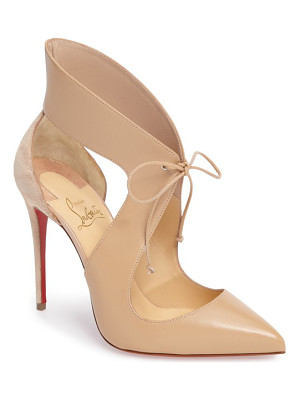 Christian Louboutin ferme rouge pointy toe pump
