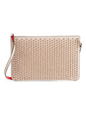 CHRISTIAN LOUBOUTIN Loubiclutch Quadro Leather Crossbody Clutch