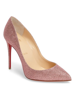 CHRISTIAN LOUBOUTIN Pigalle Follies Woven Glitter Pump