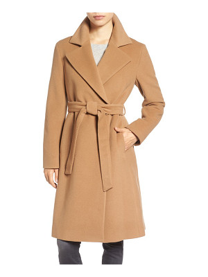 Cinzia Rocca Icons wool blend long wrap coat