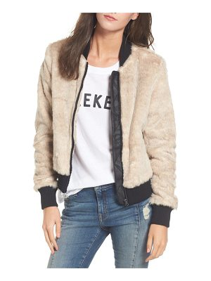 Coffee Shop faux fur bomber jacket